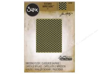 Sizzix Texture Fades Embossing Folders 1 pc. Herringbone