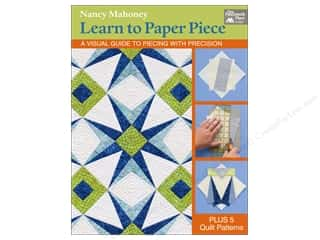 Clearance: Learn to Paper Piece: A Visual Guide to Piecing with Precision Book by Nancy Mahoney