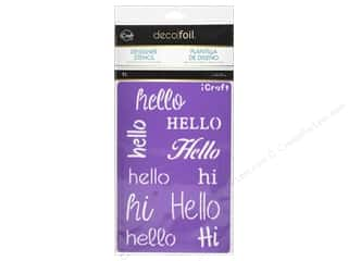craft & hobbies: iCraft Deco Foil Stencil Hello