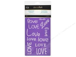 craft & hobbies: iCraft Deco Foil Stencil Love