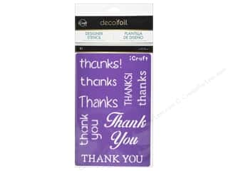 craft & hobbies: iCraft Deco Foil Stencil Thanks