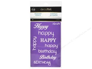 craft & hobbies: iCraft Deco Foil Stencil Happy