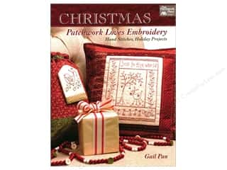 Christmas Patchwork Loves Embroidery: Hand Stitches, Holiday Projects Book by Gail Pan