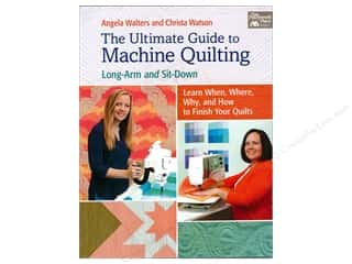 books & patterns: The Ultimate Guide to Machine Quilting: Long-arm and Sit-down Book by Angela Walters and Christa Watson
