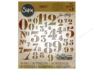 die cuts: Sizzix Thinlits Die Set 38 pc. Stencil Numbers