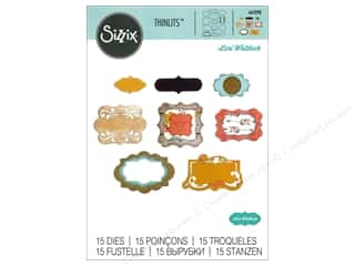 dies: Sizzix Thinlits Die Set 15 pc. Perfect Labels