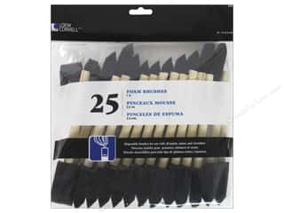 "Loew Cornell Brush Set Foam 1"" 25pc"