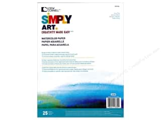 craft & hobbies: Loew Cornell Simply Art Watercolor Paper Pad 25sht