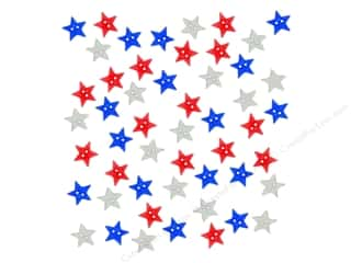 craft & hobbies: Jesse James Dress It Up Embellishments Patriotic Star Spangled