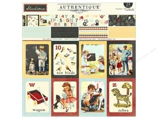 scrapbooking & paper crafts: Authentique Paper Pad 12 x 12 in. Studious