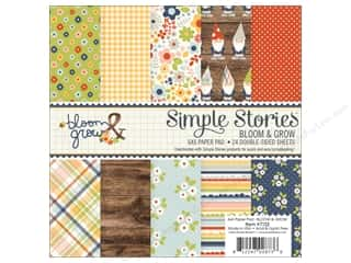 "Simple Stories: Simple Stories Collection Bloom & Grow Paper Pad 6""x 6"""