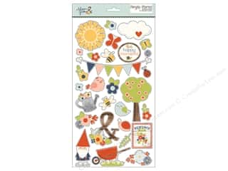 "Simple Stories Collection Bloom & Grow Sticker Chipboard 6""x 12"""