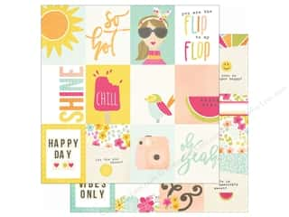 Simple Stories: Simple Stories 12 x 12 in. Paper Sunshine & Happiness 3x4 Journaling Card Elements (25 sheets)