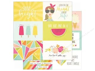 Simple Stories: Simple Stories 12 x 12 in. Paper Sunshine & Happiness 4x6 Horizontal Elements (25 sheets)
