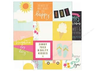 Simple Stories: Simple Stories 12 x 12 in. Paper Sunshine & Happiness 4x4 & 4x6 Vertical Elements (25 sheets)