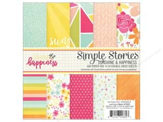 "Bo Bunny Paper Pads 6""x 6"": Simple Stories Collection Sunshine & Happiness Paper Pad 6""x 6"""