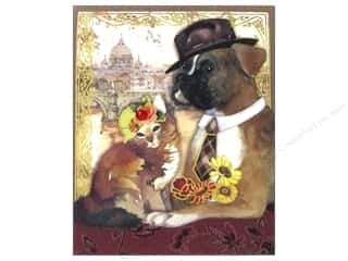 Clearance Punch Studio Decorative Magnet: Punch Studio Pocket Note Pad Posh Pets Boxer/Tabby