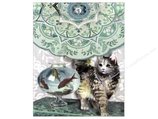 Punch Studio Pocket Note Pad Posh Pets Fish Bowl Cat