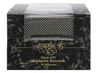 Graphic 45 Staples Alpha Banner -  ATC Black