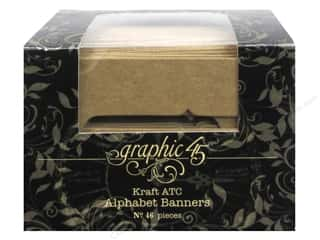 Graphic 45 Staples Alpha Banner ATC Kraft