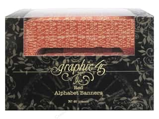Graphic 45 Staples Alpha Banner - Red
