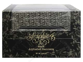die cuts: Graphic 45 Staples Alpha Banner - Black