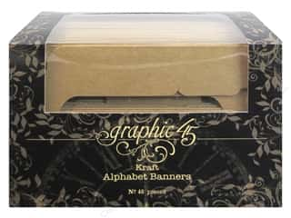 Graphic 45 Staples Alpha Banner Kraft
