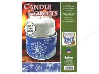 yarn: Janlynn Cross Stitch Kit Candle Corset Winter Snowflakes