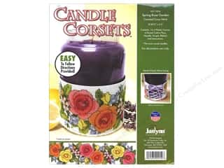 Janlynn Cross Stitch Kit Candle Corset Spring Rose Garden
