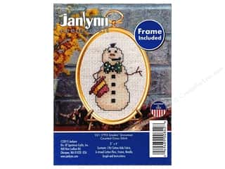 yarn & needlework: Janlynn Cross Stitch Kit Ornament Smokin' Snowman