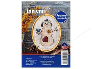 yarn & needlework: Janlynn Cross Stitch Kit Ornament Snowman & Bluebird
