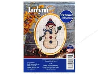 Janlynn Cross Stitch Kit Ornament Friendly Snowman