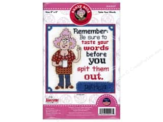 projects & kits: Janlynn Cross Stitch Kit Aunty Acid Taste Your Words