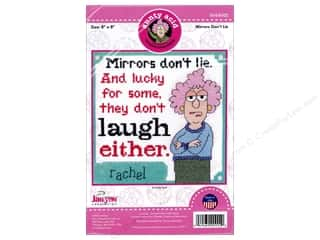 stamps: Janlynn Cross Stitch Kit Aunty Acid Mirrors Don't Lie