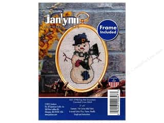 yarn & needlework: Janlynn Cross Stitch Kit Ornament Top Hat Snowman