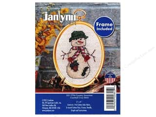 yarn & needlework: Janlynn Cross Stitch Kit Ornament Country Snowman