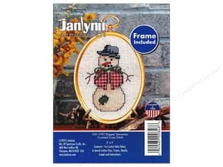 Janlynn Cross Stitch Kit Ornament Dapper Snowman