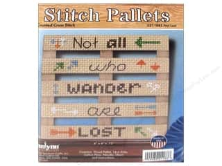 projects & kits: Janlynn Cross Stitch Kit Stitch Pallets Not Lost