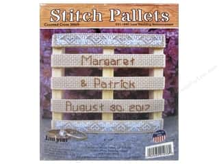 Clearance: Janlynn Cross Stitch Kit Stitch Pallets Lace Wedding Announcement