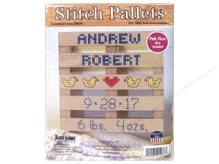 yarn & needlework: Janlynn Cross Stitch Kit Stitch Pallets Birth Announcement