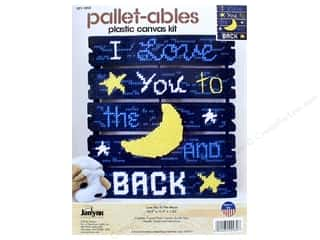 craft & hobbies: Janlynn Plastic Canvas Kit Pallet-ables Love You To The Moon