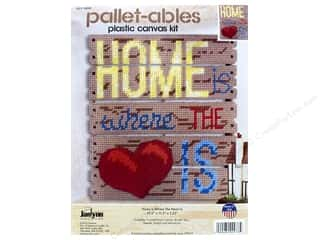 Janlynn Kit Plastic Canvas Pallet-ables Home Is Where The Heart Is
