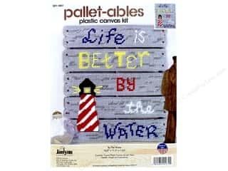 plastic canvas: Janlynn Plastic Canvas Kit Pallet-ables By The Water