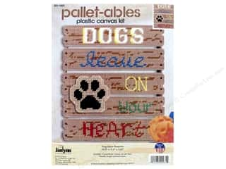 Janlynn Kit Plastic Canvas Pallet-ables Dogs Leave Pawprints