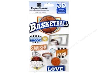 scrapbooking & paper crafts: Paper House 3D Stickers - Basketball