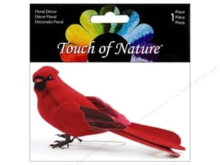 decorative bird: Midwest Design Artificial Birds 5 in. Feather Cardinal Red 1 pc.