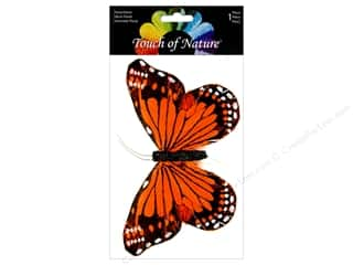 decorative floral: Midwest Design Butterfly Monarch 6 in. Orange/Black