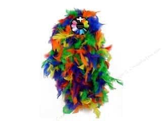 Feathers: Midwest Design Turkey Flat Chandelle Feather Boa 2 yd. Multi