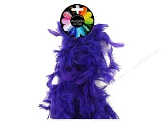 Feathers: Midwest Design Turkey Flat Chandelle Feather Boa 2 yd. Purple