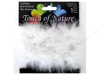 Feathers: Midwest Design Fluffy Craft Marabou Feather Boa 1 yd. White